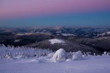 Jakub Spodymek fotografia przyrodnicza krajobraz Pilsko zima wschód słońca