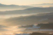Jakub Spodymek fotografia przyrodnicza krajobraz Pilsko mgła wschód słońca zima